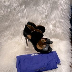 Aquazzura gently worn 4.5in stilettos heels